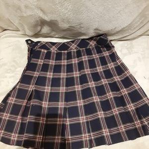 H&M Dividend Plaid Mini Skirt